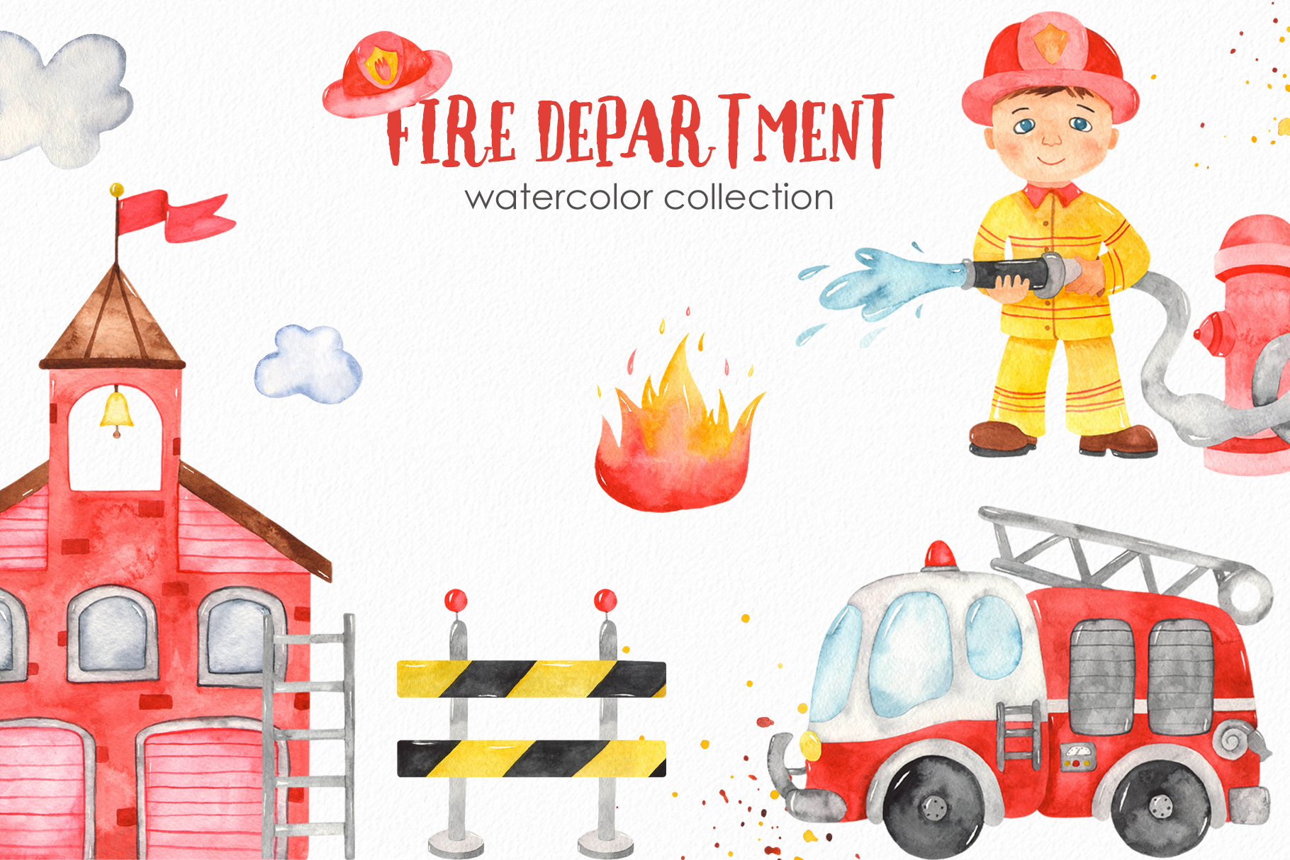Fire Department watercolor cover
